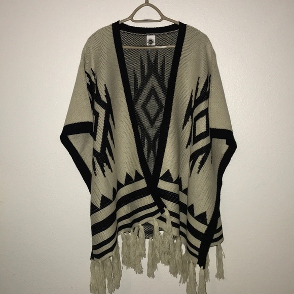 dca704a9a cake & roses Sweaters | Cakeroses Oversized Poncho Shawl Aztec One ...